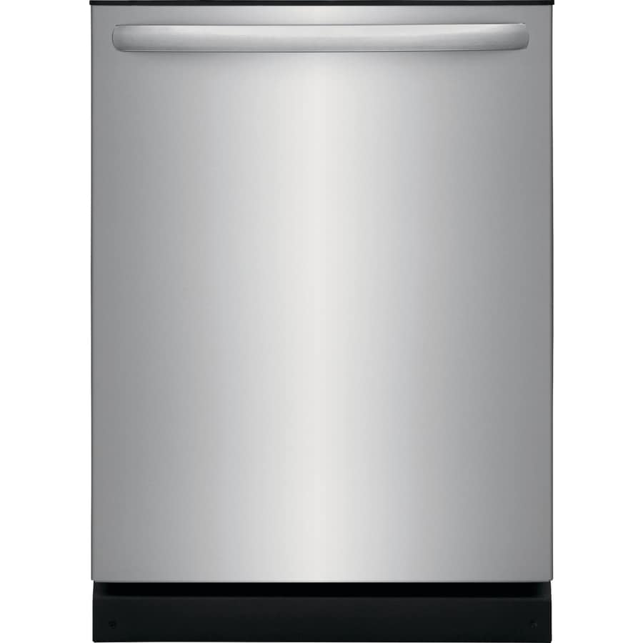 frigidaire 54 decibel built in dishwasher easycare stainless steel rh lowes com