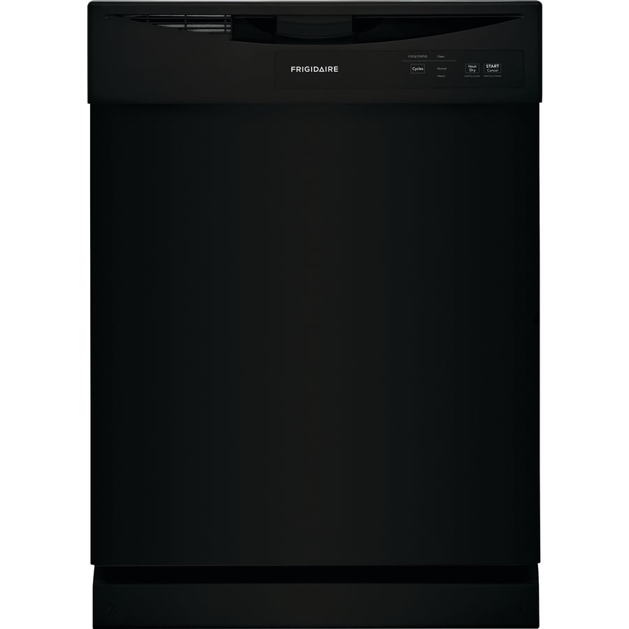 Frigidaire 62 Decibel Front Control 24 In Built In Dishwasher Black In The Built In Dishwashers Department At Lowes Com
