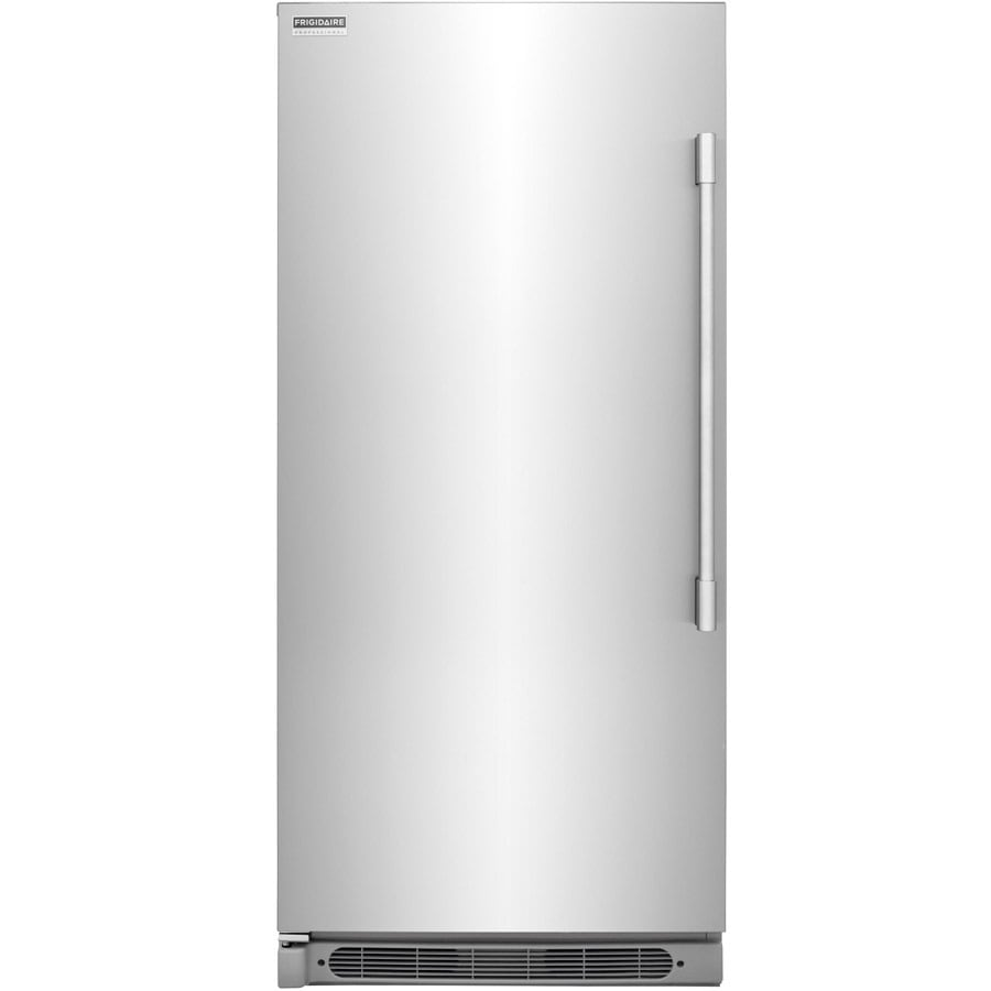 frigidaire 1858cu ft upright freezer stainless steel