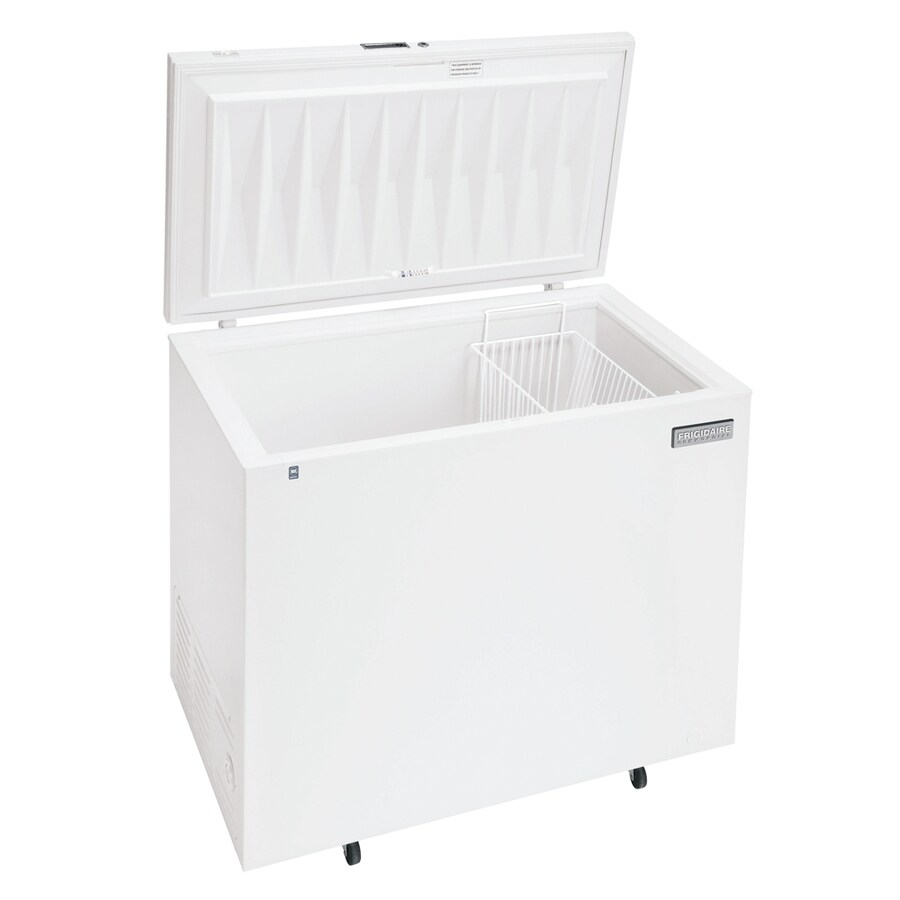 frigidaire 72cu ft commercial chest freezer white energy star