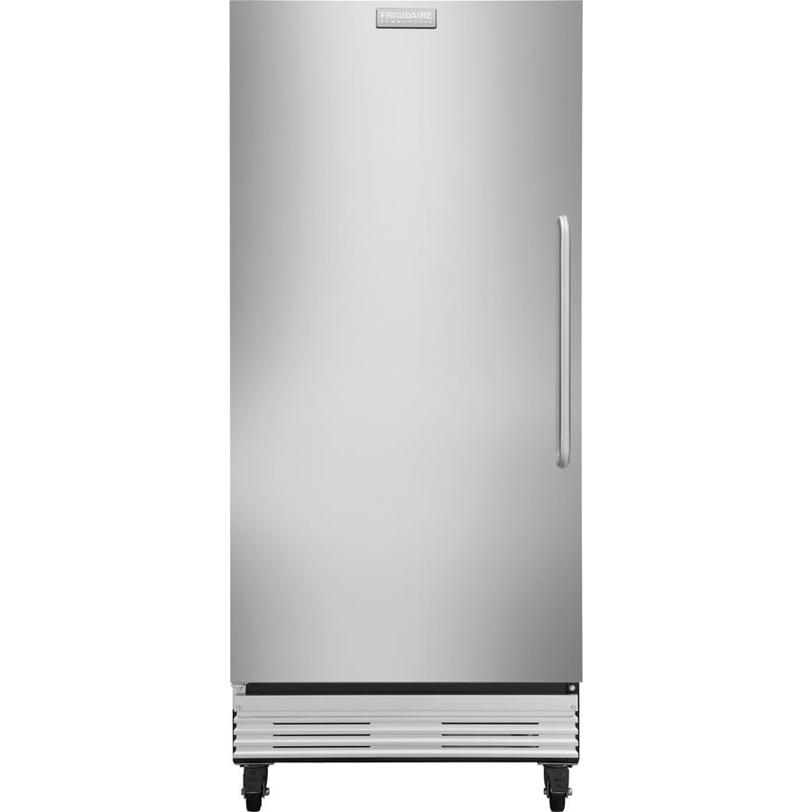 shop frigidaire 19 4 cu ft frost free commercial upright freezer stainless steel energy star. Black Bedroom Furniture Sets. Home Design Ideas