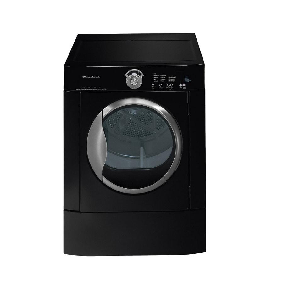 frigidaire 58cu ft stackable electric dryer black