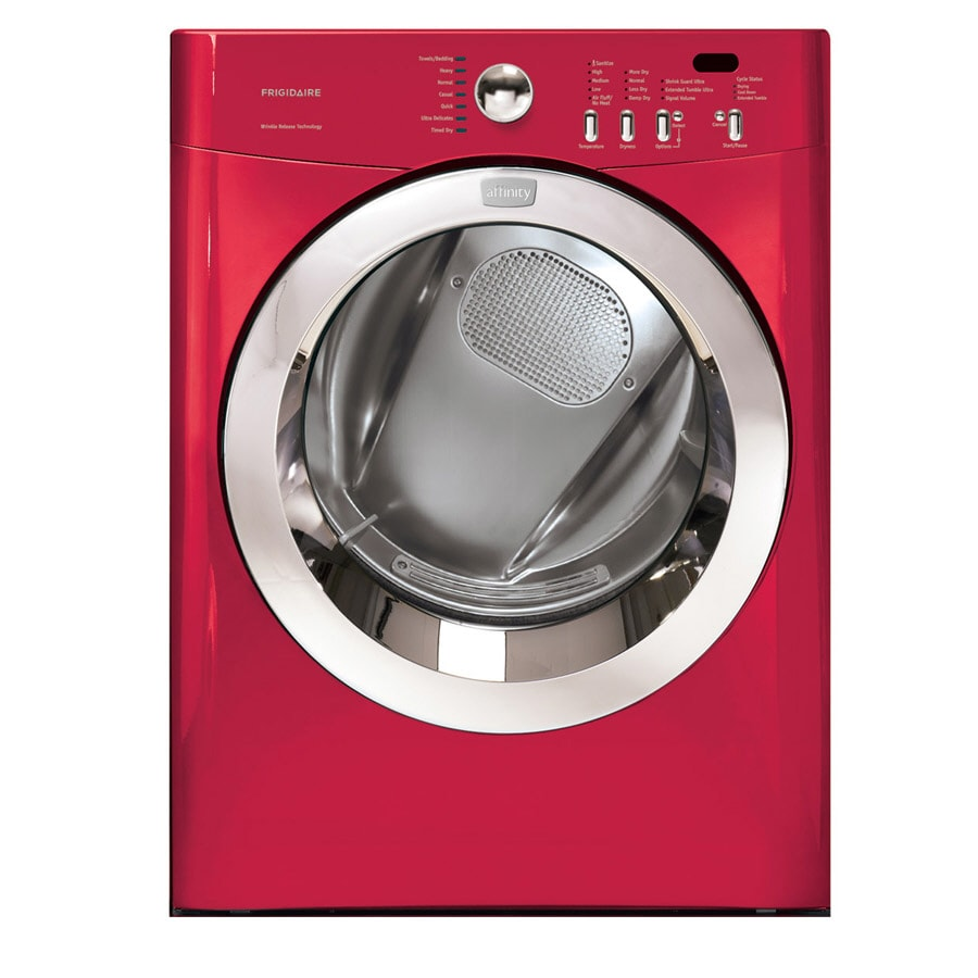 frigidaire affinity 70 cu ft electric dryer color red