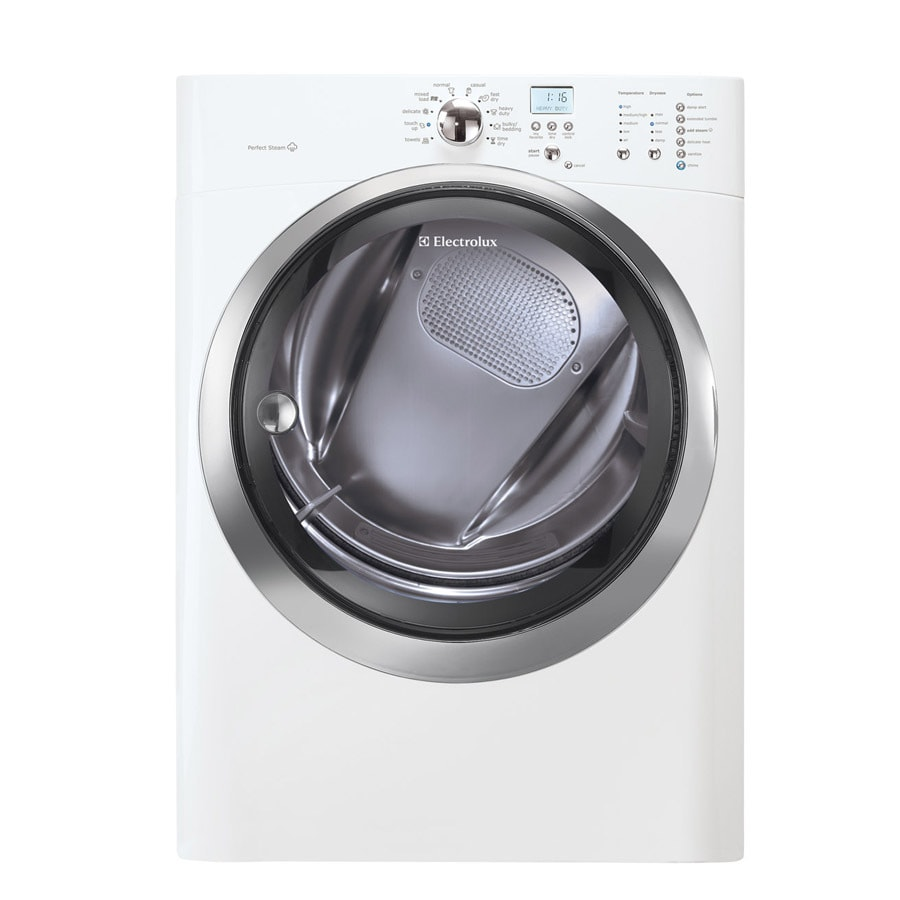 Electrolux 8-cu ft Stackable Electric Dryer with Steam Cycle (Island White)