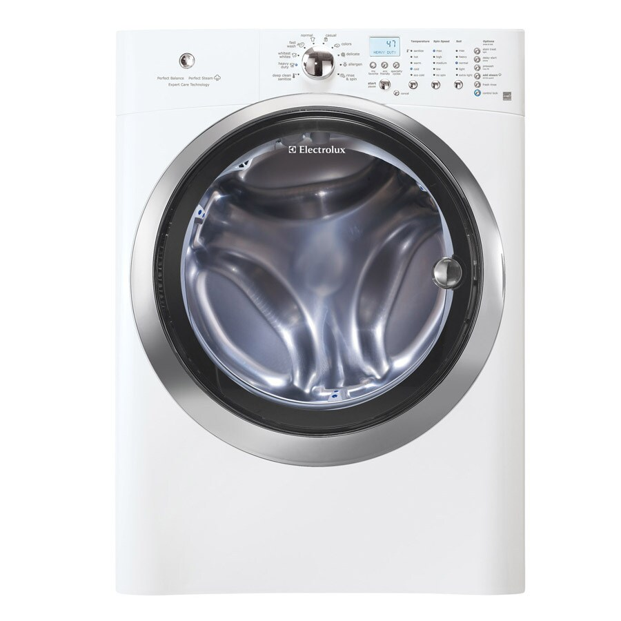 Electrolux 4.3-cu ft High-Efficiency Stackable Front-Load Washer with Steam Cycle (Island White)
