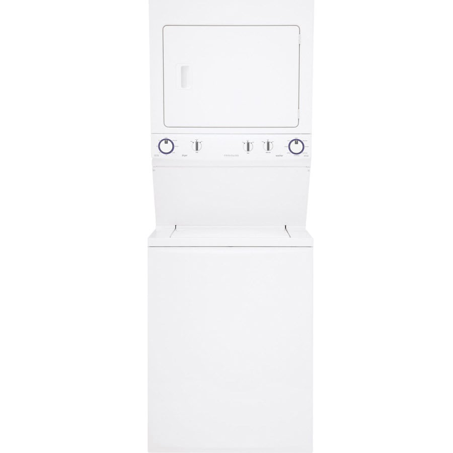 Frigidaire Electric Stacked Laundry Center with 2.95-cu ft Washer and 5.5-cu ft Dryer (White)