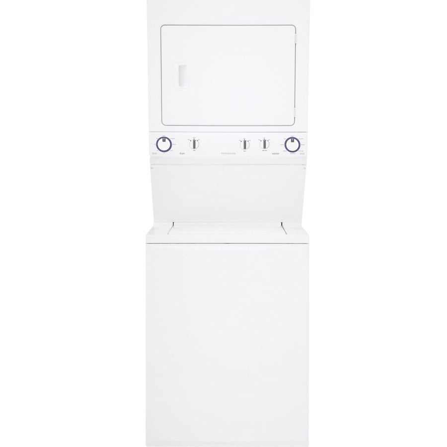 Frigidaire Gas Stacked Laundry Center with 2.95-cu ft Washer and 5.5-cu ft Dryer (White)