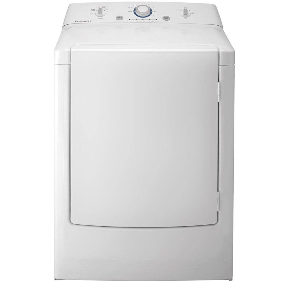 frigidaire 7cu ft electric dryer white