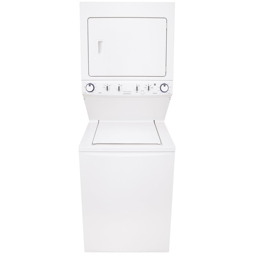 Frigidaire Gas Stacked Laundry Center with 3.8-cu ft Washer and 5.5-cu ft Dryer (White) ENERGY STAR