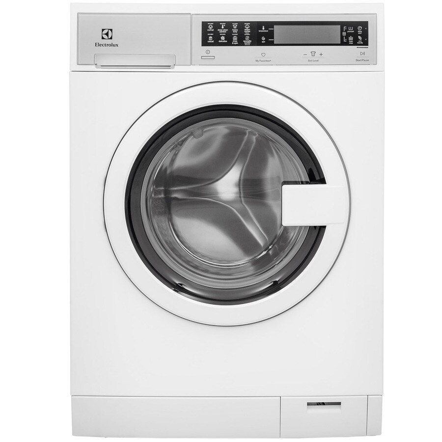 Electrolux 2.4-cu ft High-Efficiency Stackable Front-Load Washer with Steam Cycle (White) ENERGY STAR