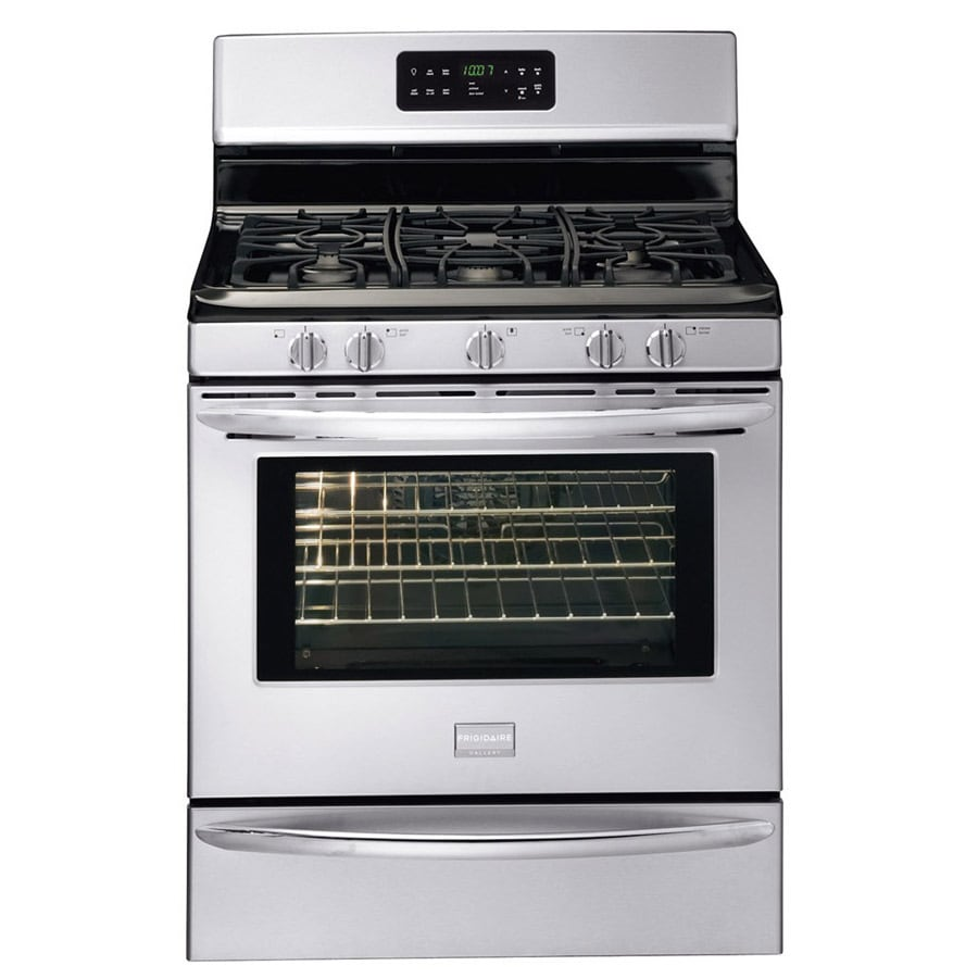 Frigidaire Gallery 5-Burner Freestanding 5-cu ft Self-cleaning Convection Gas Range (Fingerprint-Resistant Stainless) (Common: 30-in; Actual: 29.88-in)