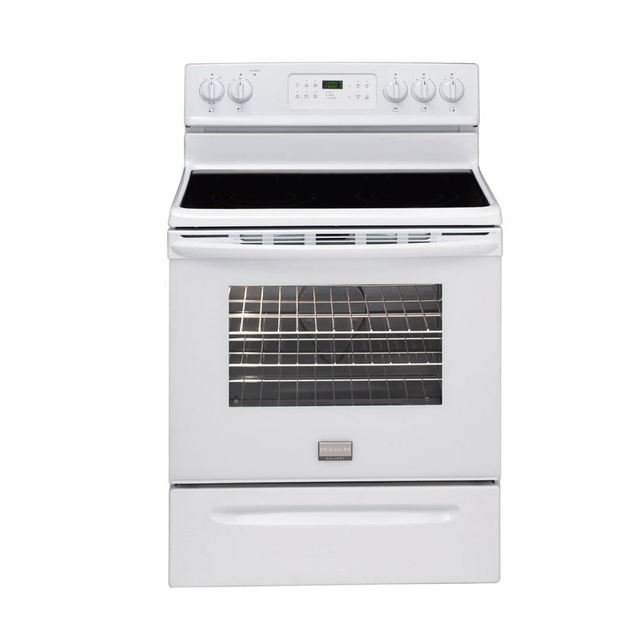 Frigidaire Gallery® Smooth Surface Freestanding 5-Element 5.4-cu ft Self-Cleaning Electric Range (White) (Actual: 30-in)