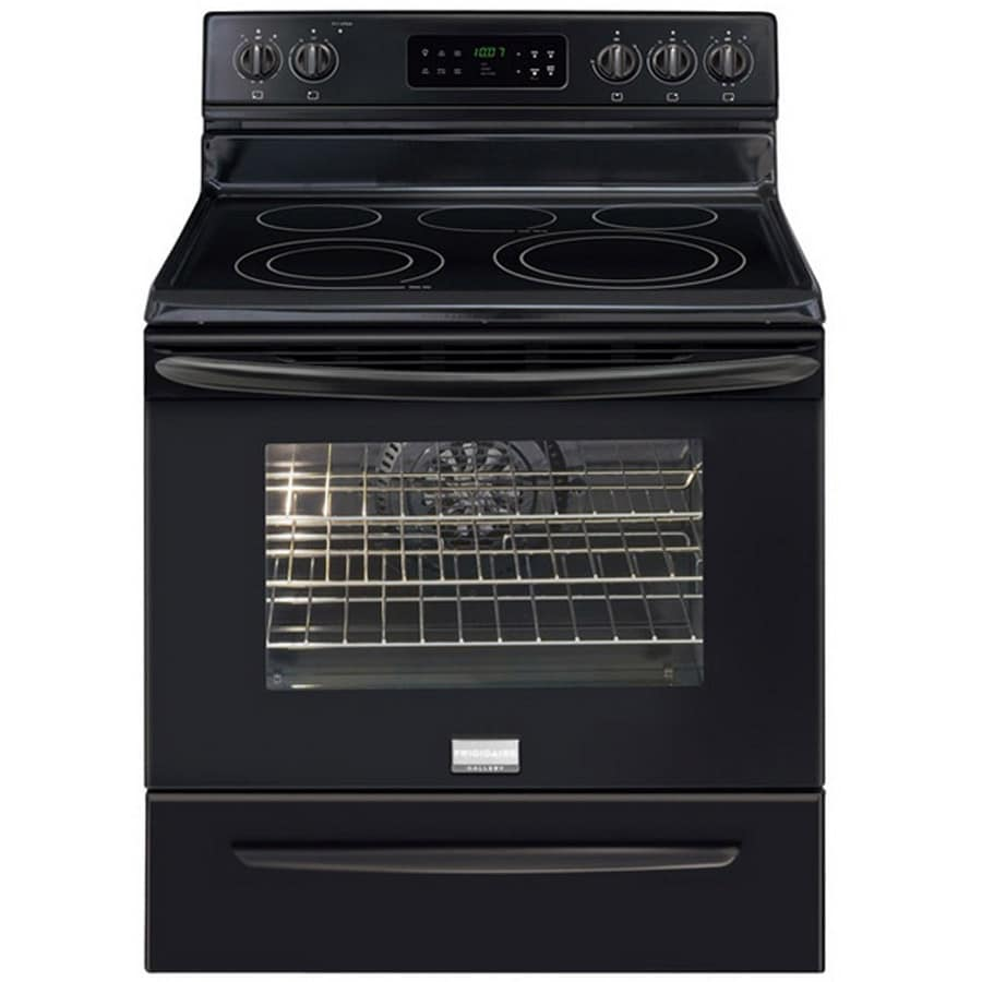 Frigidaire Gallery 3033 Smooth Surface Freestanding 5-Element 5.7-cu ft Self-Cleaning Convection Electric Range (Black) (Common: 30-in; Actual: 29.88-in)