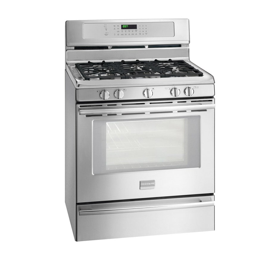 Stainless Steel Stove ~ Shop frigidaire professional burner freestanding cu ft