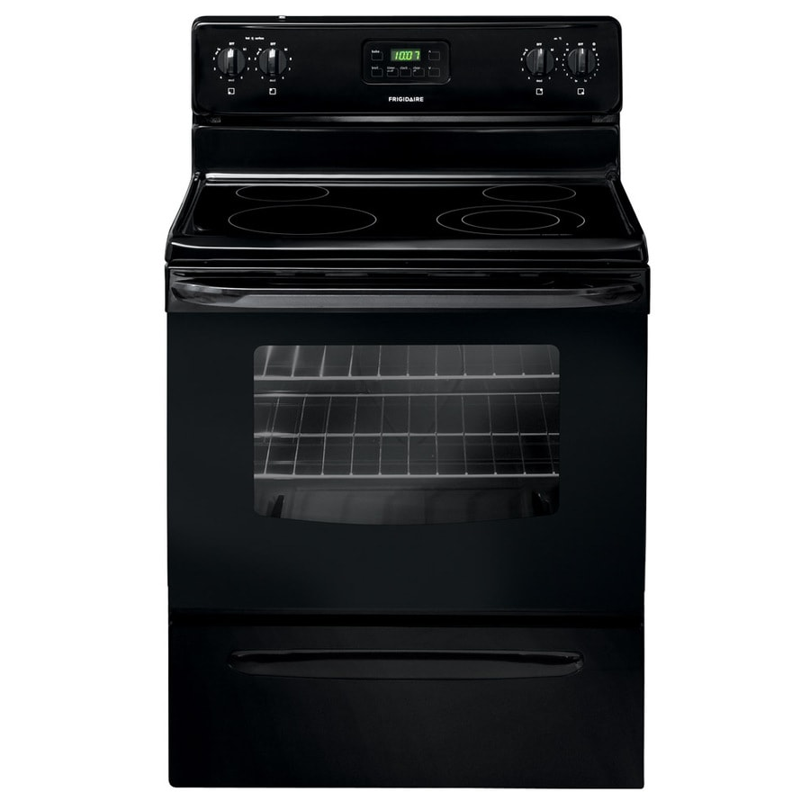 Frigidaire Smooth Surface Freestanding 4.8-cu ft Electric Range (Black) (Common: 30-in; Actual: 29.88-in)
