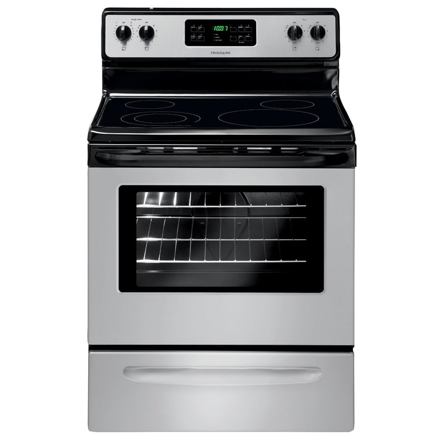 Frigidaire Smooth Surface Freestanding 5.3-cu ft Self-Cleaning Electric Range (Silver Mist) (Common: 30-in; Actual: 29.88-in)