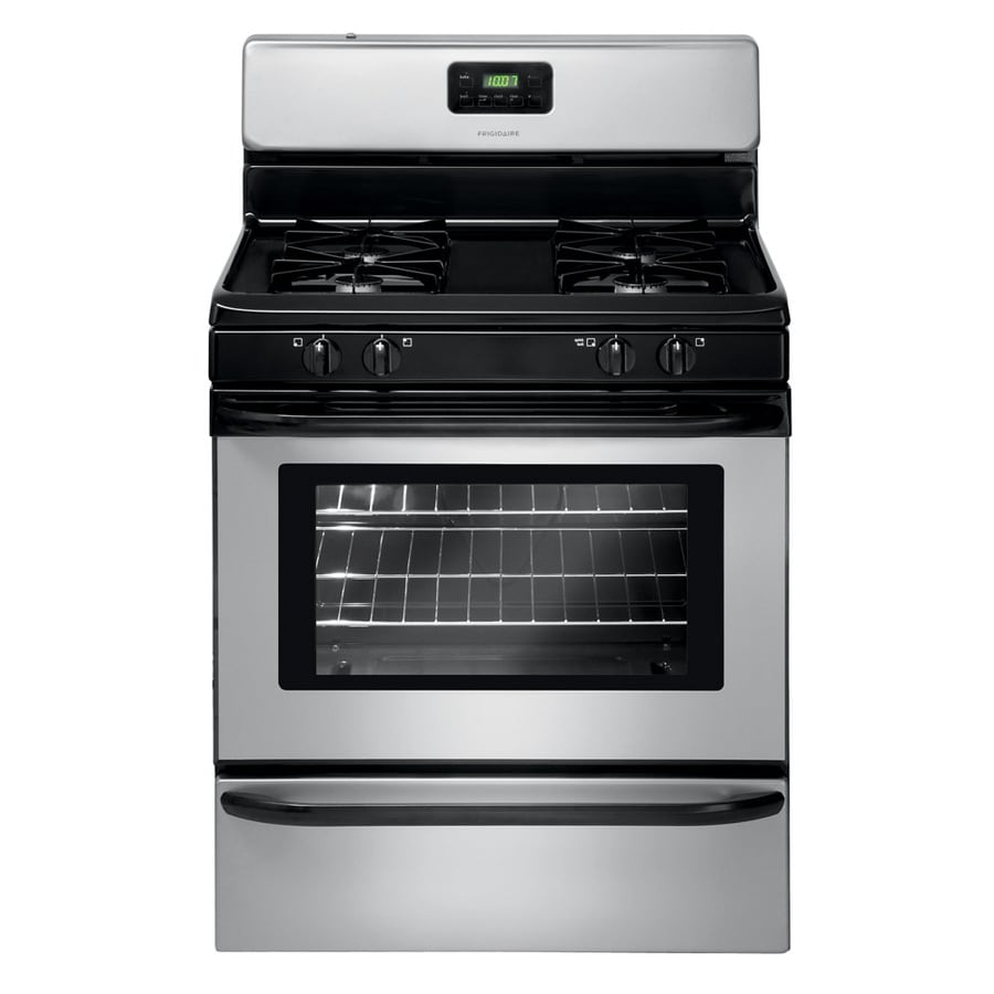 Shop Frigidaire Freestanding 4.2-cu ft Gas Range (Silver Mist) (Common: 30-in; Actual: 29.88-in ...