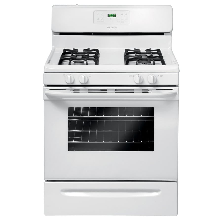 Frigidaire 4-Burner Freestanding 5-cu ft Self-cleaning Gas Range (White) (Common: 30-in; Actual: 29.88-in)