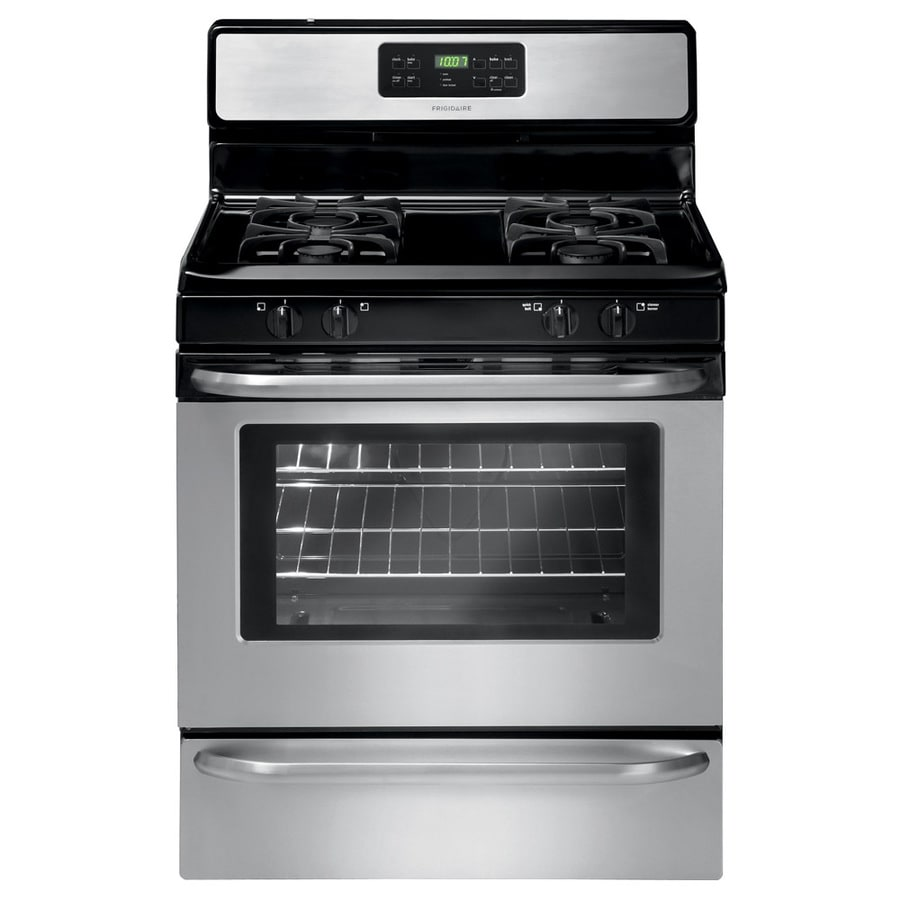 Frigidaire 4-Burner Freestanding 5-cu ft Self-cleaning Gas Range (Stainless steel) (Common: 30-in; Actual: 29.88-in)