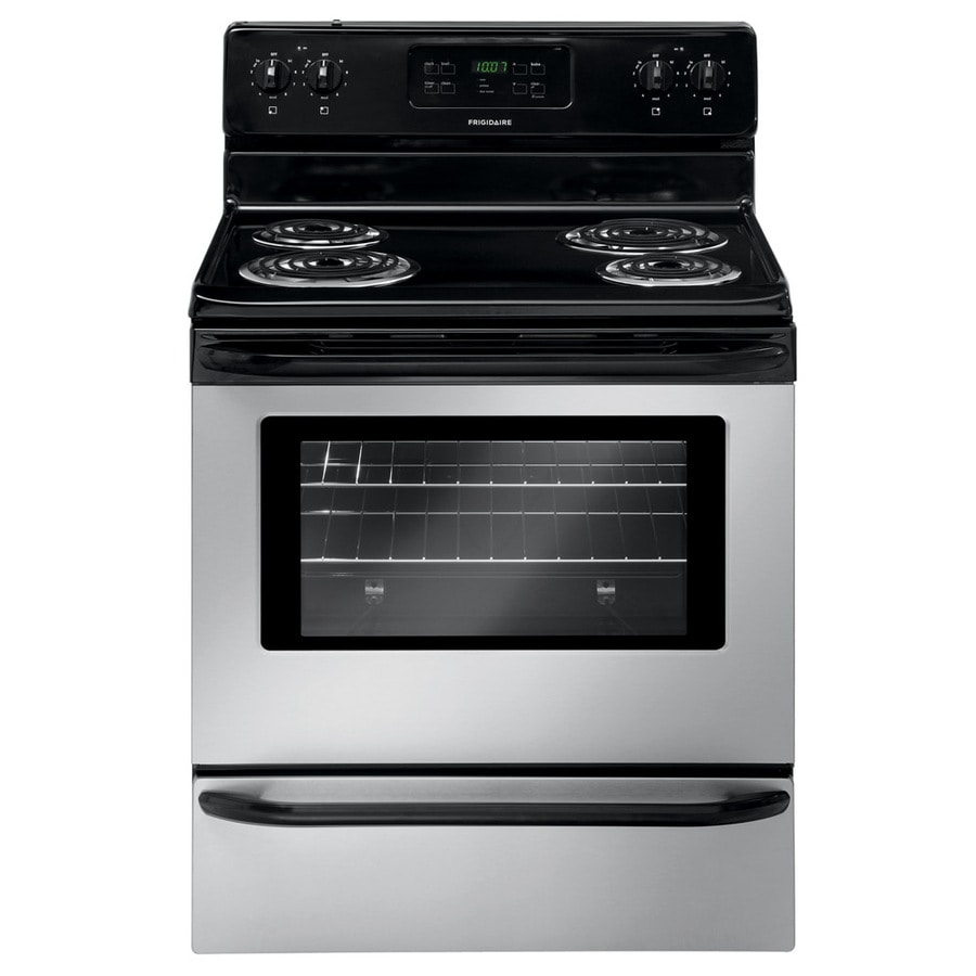 shop frigidaire freestanding 5 3 cu ft self cleaning electric range