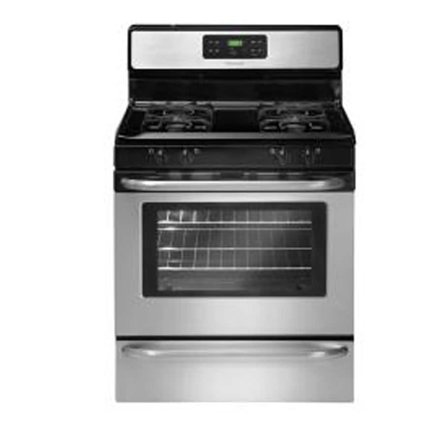 Frigidaire Freestanding 5-cu ft Self-Cleaning Gas Range (Stainless) (Common:; Actual: 29.78-in)