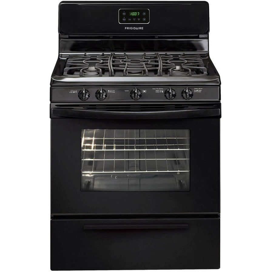 Frigidaire 5-Burner Freestanding 4.2-cu ft Gas Range (Black) (Common: 30-in; Actual: 29.88-in)
