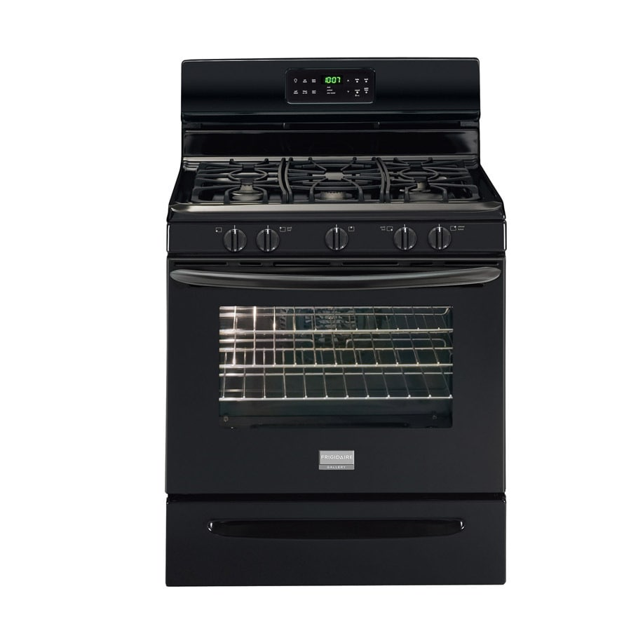 Frigidaire Gallery 5-Burner Freestanding 5-cu Self-Cleaning Convection Gas Range (Black) (Common: 30-in; Actual: 29.88-in)