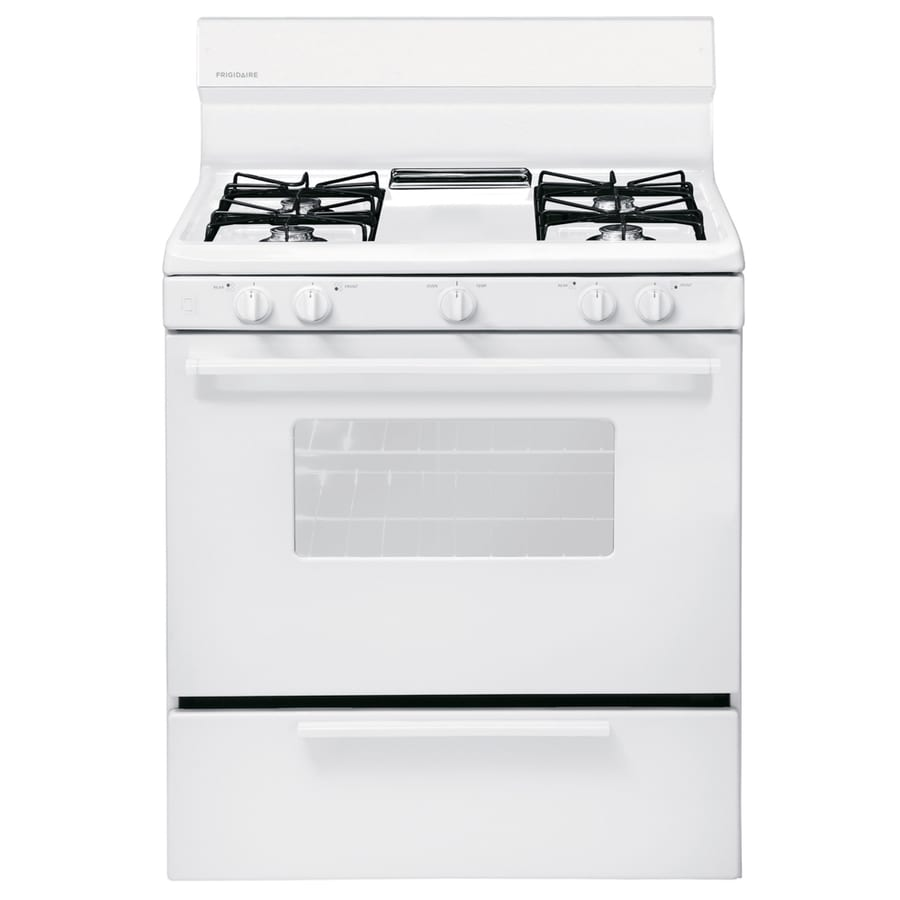 Frigidaire 4-Burner Freestanding 4.2-cu ft Gas Range (White) (Common: 30-in; Actual: 29.88-in)