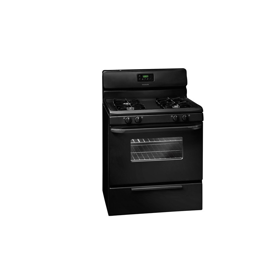 Frigidaire Freestanding 5-cu ft Self-cleaning Gas Range (Black) (common: 30-in; Actual: 29.78-in)