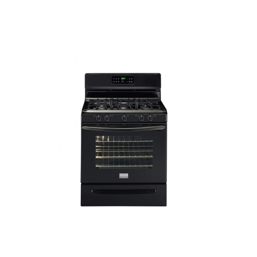Frigidaire Gallery 5-Burner Freestanding 5-cu ft Self-Cleaning Gas Range (Black) (Common:; Actual: 29.78-in)