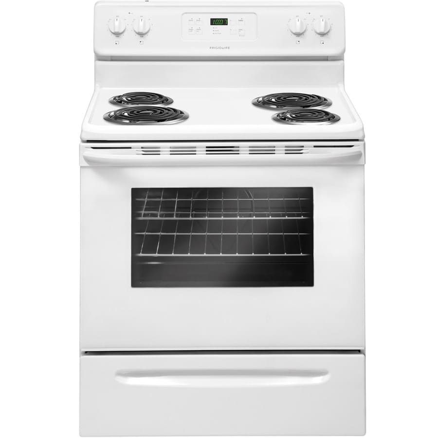 Frigidaire Freestanding 5.3-cu ft Self-Cleaning Electric Range (White) (Common: 30-in; Actual: 29.88-in)