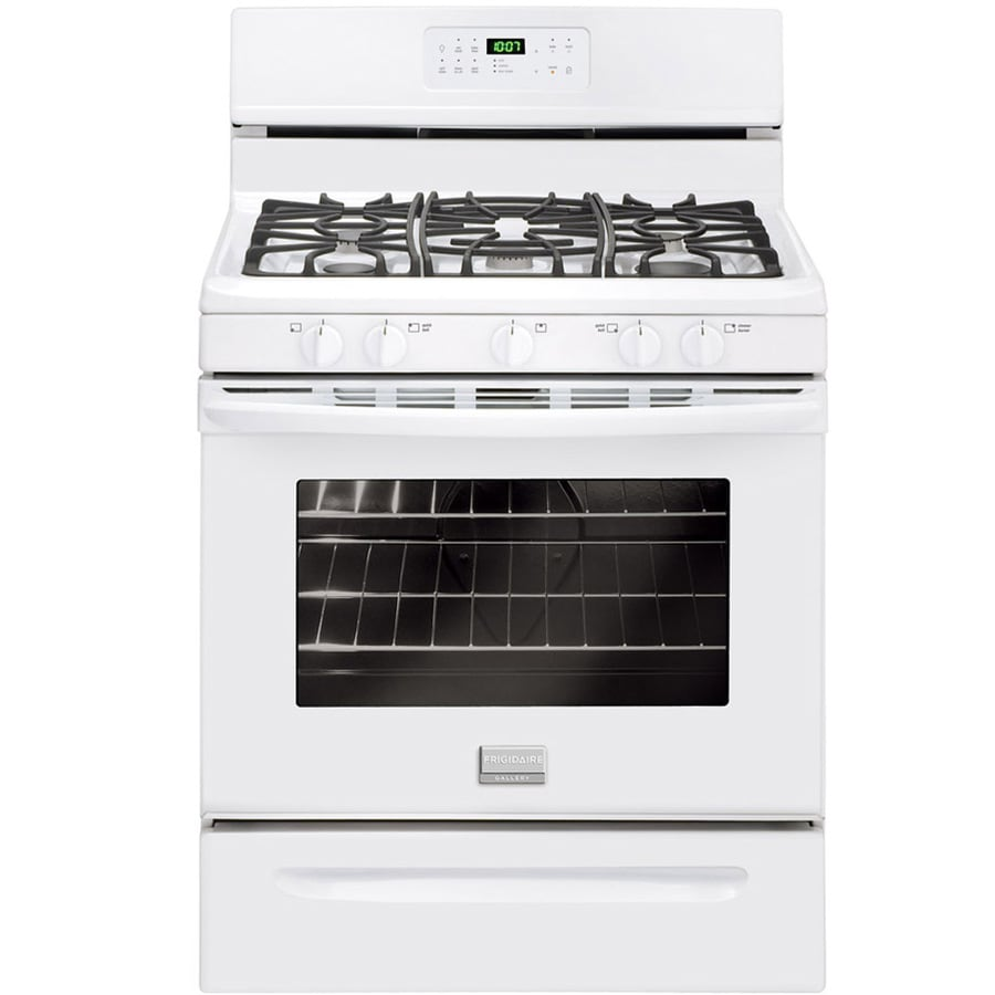 Frigidaire Gallery 5-Burner Freestanding 5-cu ft Self-Cleaning Gas Range (White) (Common: 30-in; Actual: 29.875-in)