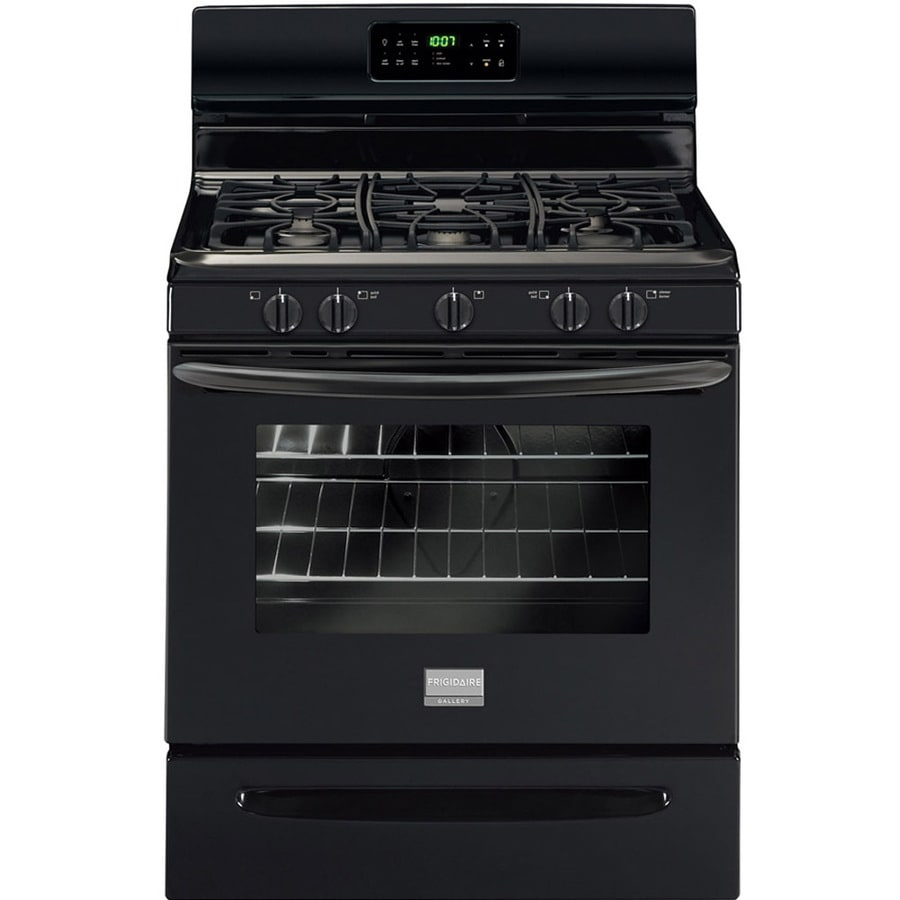 Frigidaire Gallery 5-Burner Freestanding 5-cu ft Self-cleaning Gas Range (Black) (Common: 30-in; Actual: 29.875-in)