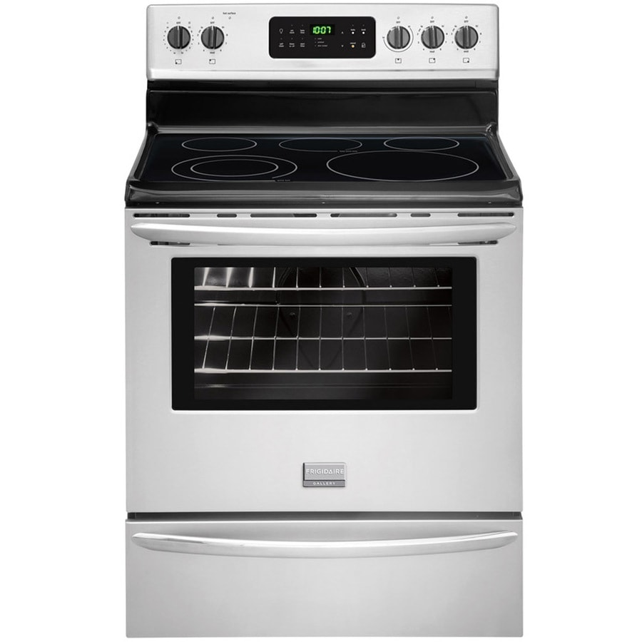 Frigidaire Gallery Smooth Surface Freestanding 5-Element 5.4-cu ft Self-Cleaning Electric Range (Smudge-Proof Stainless Steel) (Common: 30-in; Actual: 29.875-in)