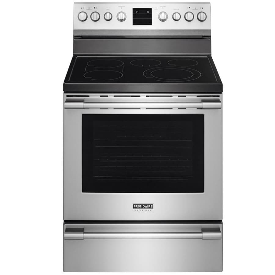 Frigidaire Professional Smooth Surface Freestanding 5-Element 6.1-cu ft Self-Cleaning Convection Electric Range (Smudge-Proof Stainless Steel) (Common: 30-in; Actual: 29.875-in)