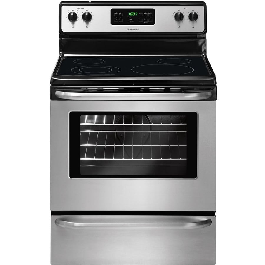 Frigidaire Smooth Surface Freestanding 5.3-cu ft Self-Cleaning Electric Range (EasyCare Stainless Steel) (Common: 30-in; Actual: 29.875-in)