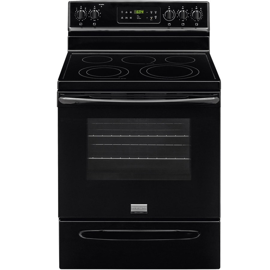 Frigidaire Gallery Smooth Surface Freestanding 5-Element 5.7-cu ft Self-Cleaning Convection Electric Range (Black) (Common: 30-in; Actual: 29.87-in)