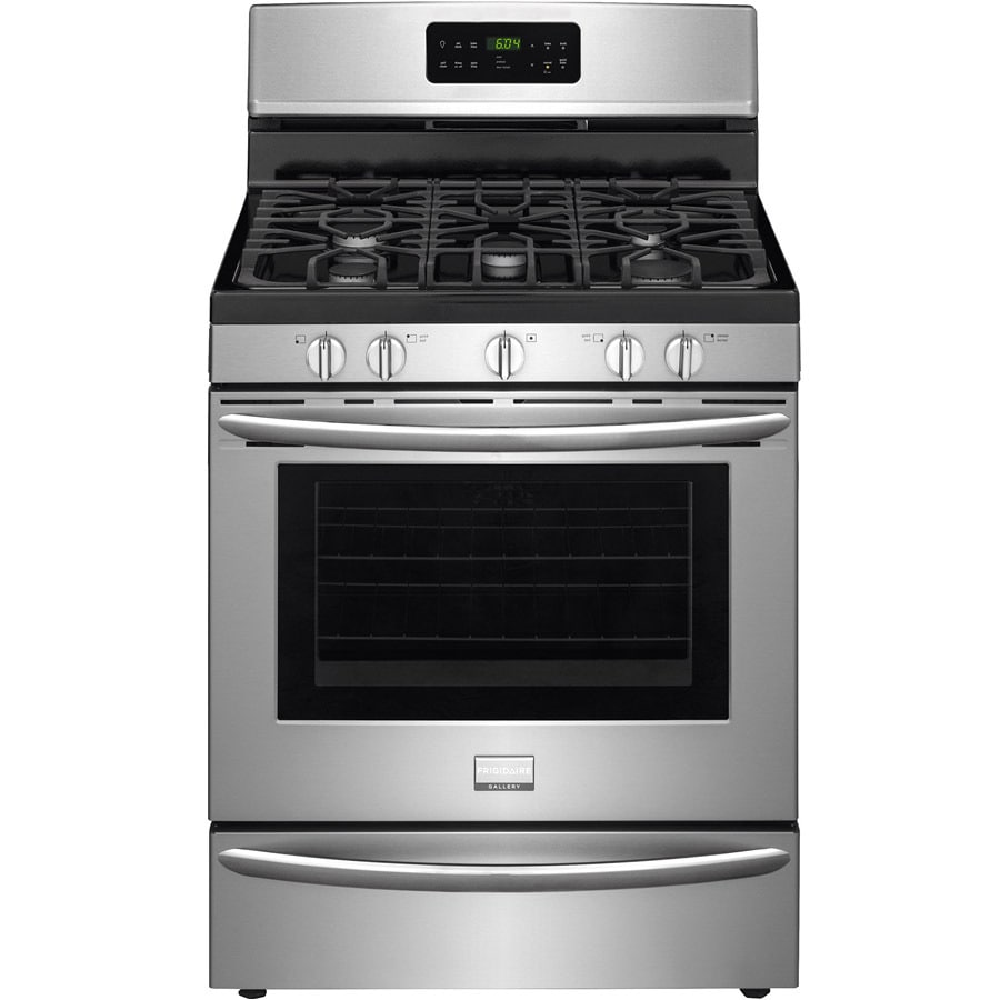 Frigidaire 5-Burner Freestanding 5-cu ft Self-Cleaning Convection Gas Range (Smudge-Proof Stainless Steel) (Common: 30-in; Actual: 29.875-in)