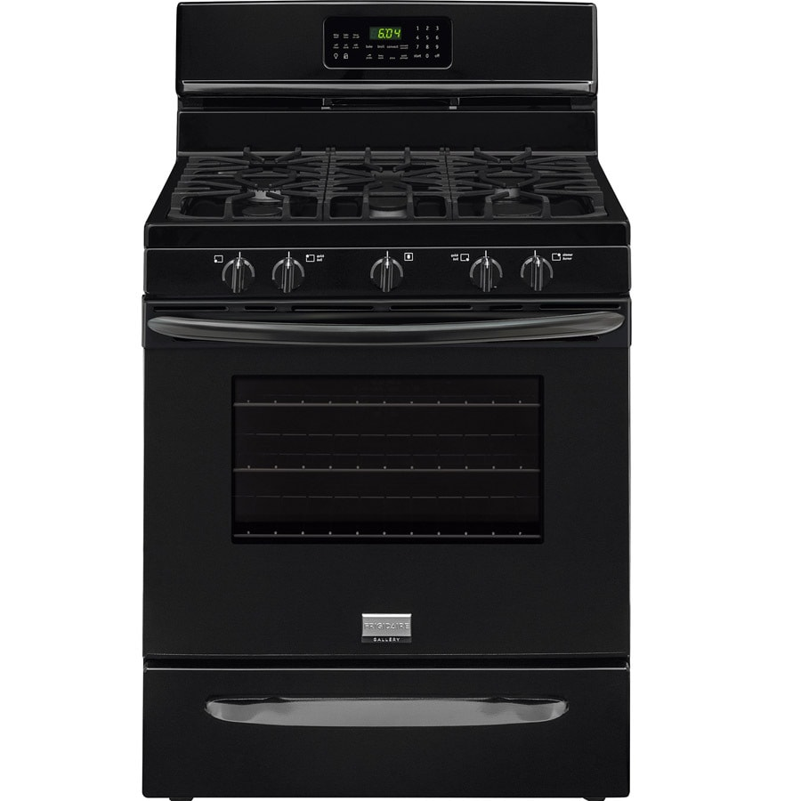 Frigidaire 5-Burner Freestanding 5-cu ft Self-cleaning Convection Gas Range (Black) (Common: 30-in; Actual: 29.875-in)