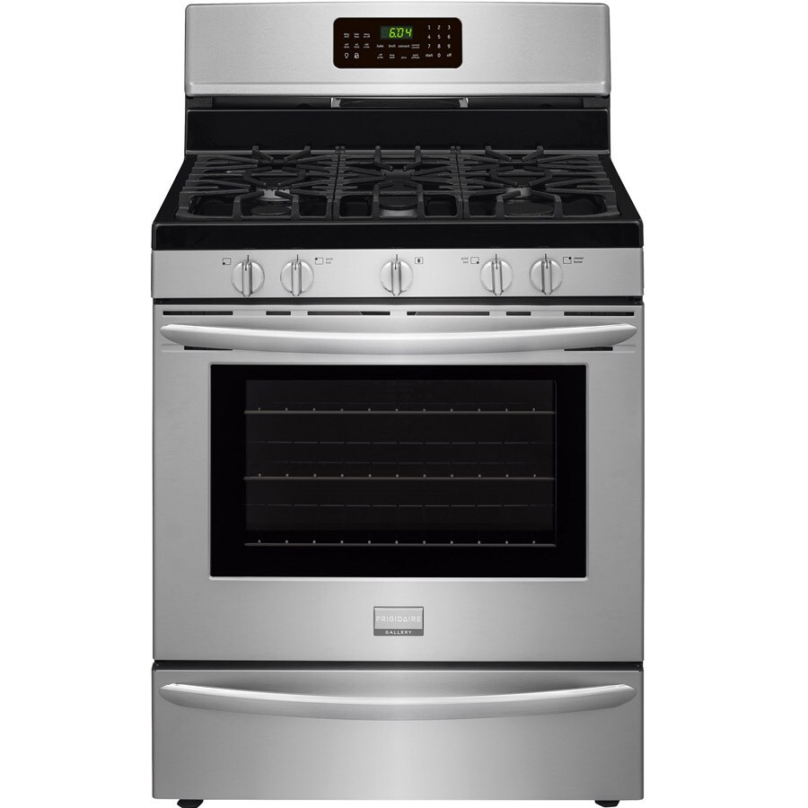 Frigidaire 5-Burner Freestanding 5-cu ft Self-cleaning Convection Gas Range (Smudge-Proof Stainless Steel) (Common: 30-in; Actual: 29.88-in)
