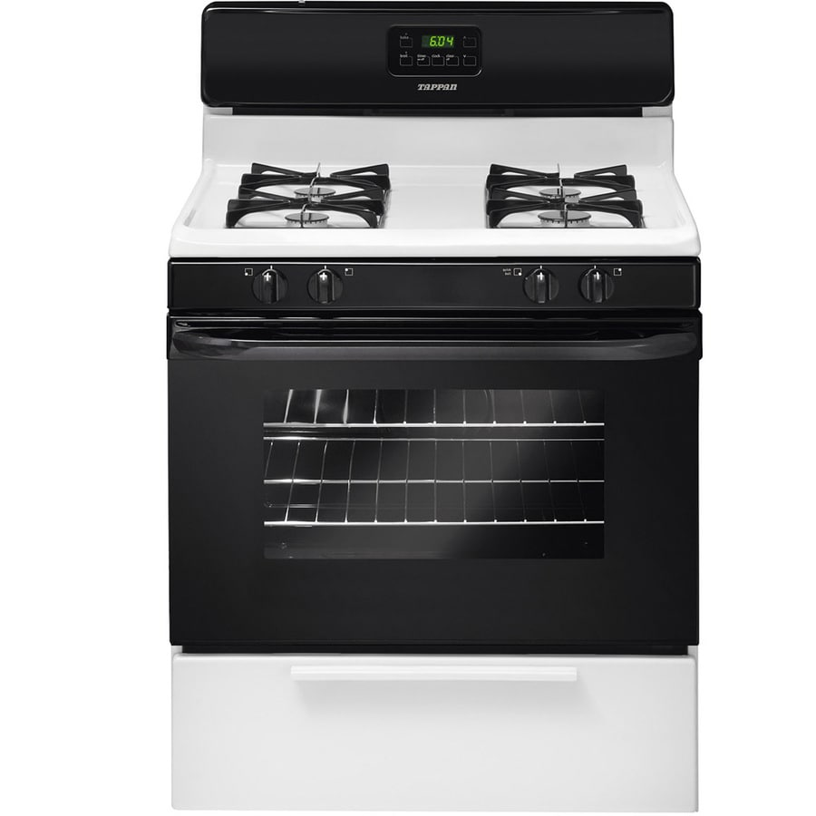 Tappan Freestanding 4.2-cu ft Gas Range (Black/White) (Common: 30-in; Actual: 29.875-in)