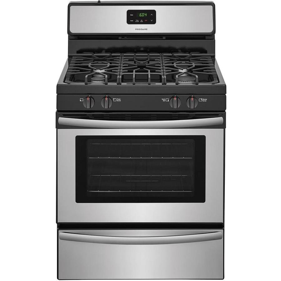 Frigidaire Freestanding 4.2-cu ft Gas Range (Stainless Steel) (Common: 30-in; Actual: 29.875-in)