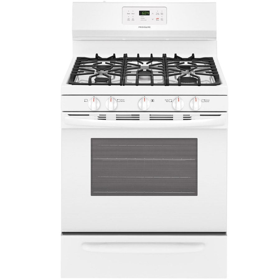 fa034c930 Frigidaire 5-Burner 5-cu ft Self-Cleaning Freestanding Gas Range (White)  (Common  30-in  Actual 29.875-in)
