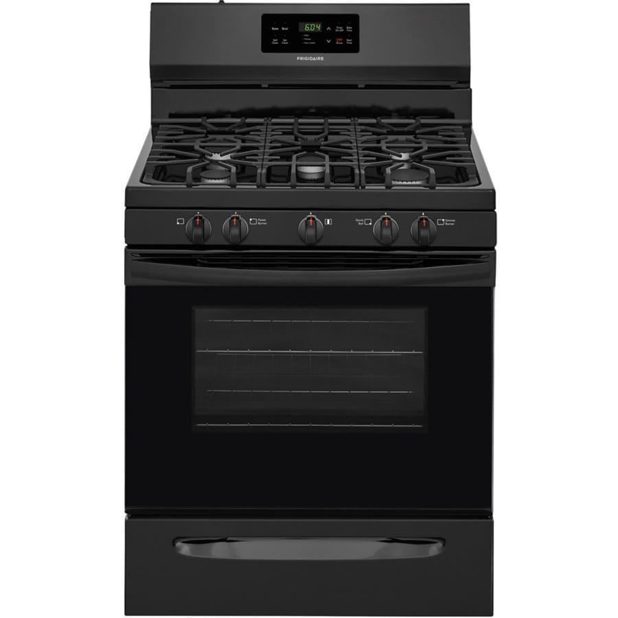 Frigidaire 5-Burner Freestanding 5-cu ft Self-cleaning Gas Range (Black) (Common: 30-in; Actual: 29.875-in)