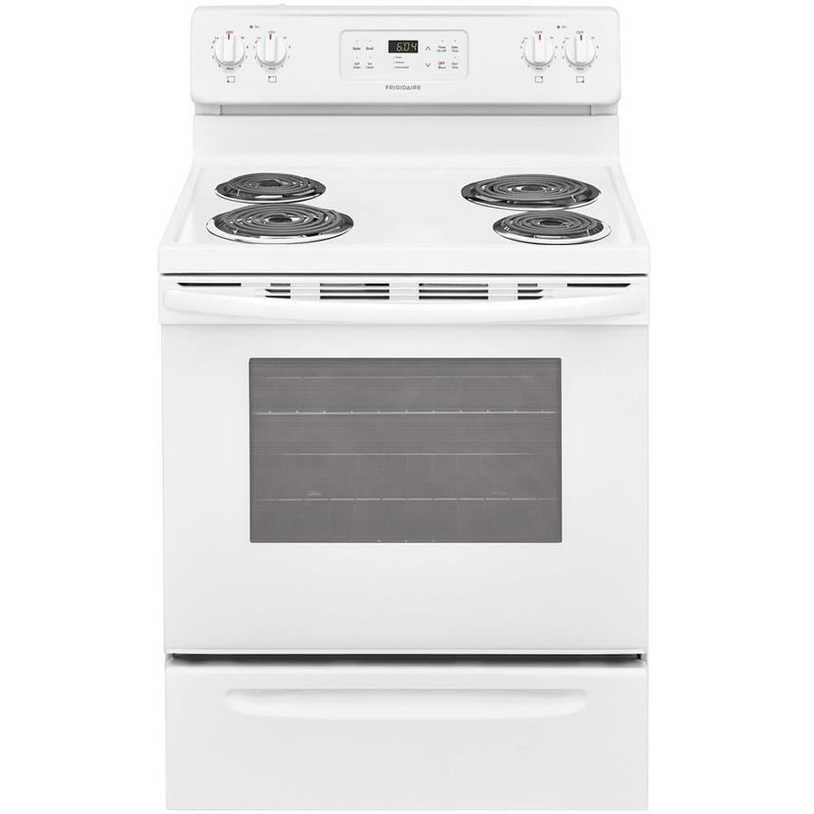 Frigidaire Freestanding 5.3-cu ft Self-Cleaning Electric Range (White) (Common: 30-in; Actual: 29.875-in)