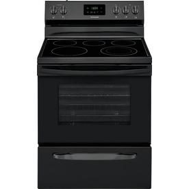 Frigidaire Smooth Surface 5 Element 4 9 Cu Ft Freestanding Electric Range Black
