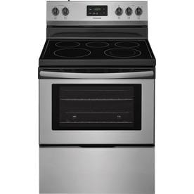 Frigidaire Smooth Surface 5-Element Freestanding Electric Range (Stainless Steel) (Common: 30-in; Actual: 29.875-in)
