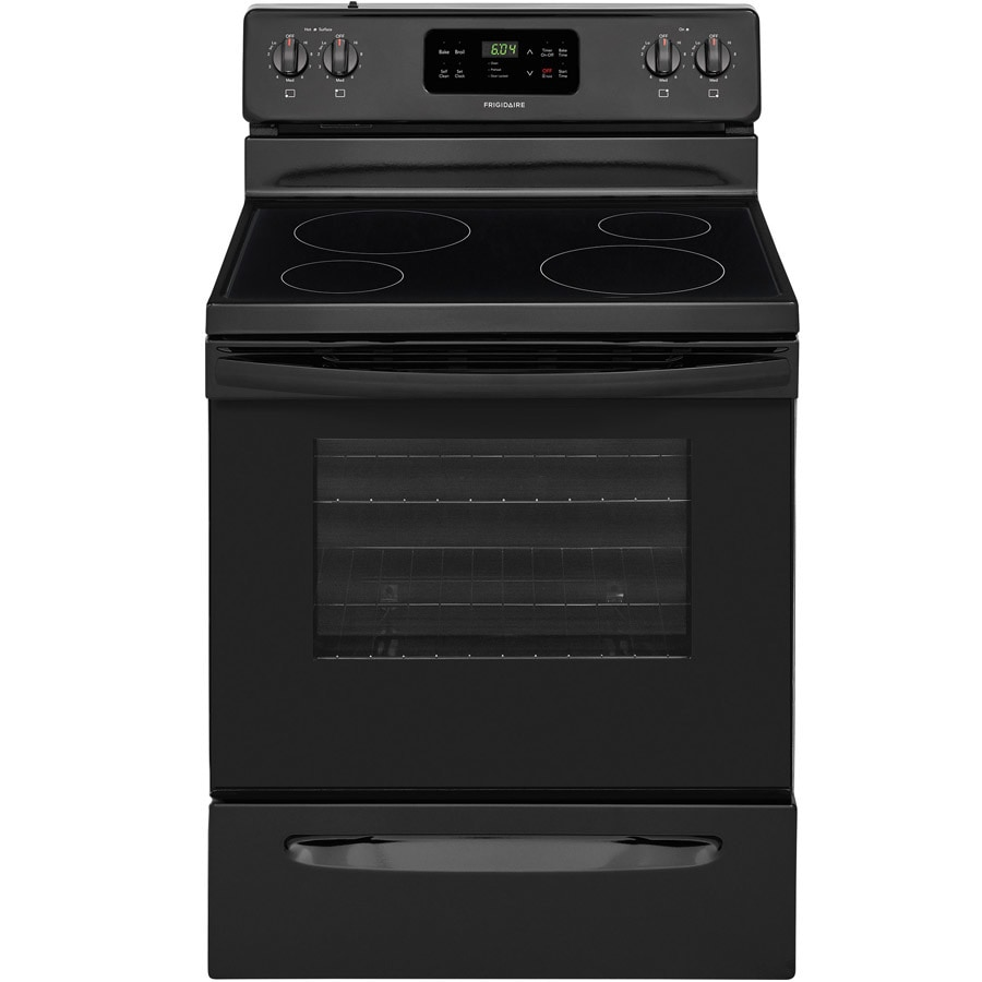 Frigidaire Smooth Surface Freestanding 5.3-cu ft Self-Cleaning Electric Range (Black) (Common: 30-in; Actual: 29.875-in)