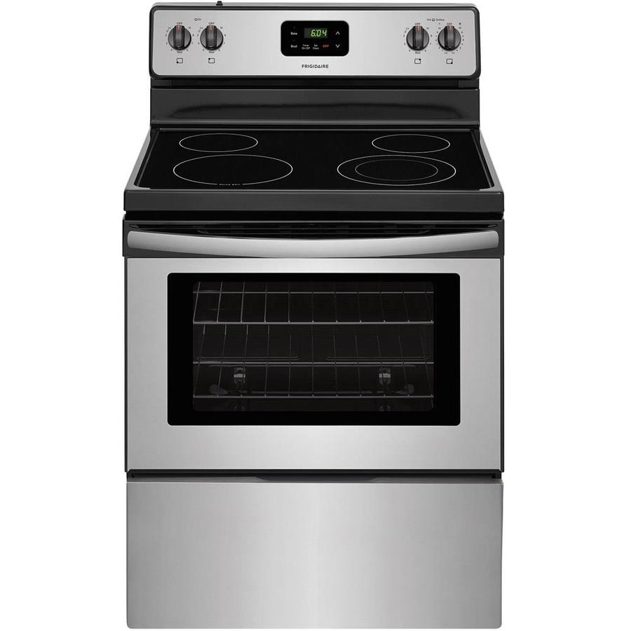 Frigidaire Smooth Surface Freestanding 4.9-cu ft Electric Range (Stainless steel) (Common: 30-in; Actual: 29.875-in)