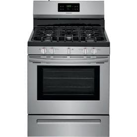Frigidaire 5-Burner Freestanding 5-cu ft Self-cleaning Gas Range (EasyCare Stainless Steel) (Common: 30-in; Actual: 29.875-in)